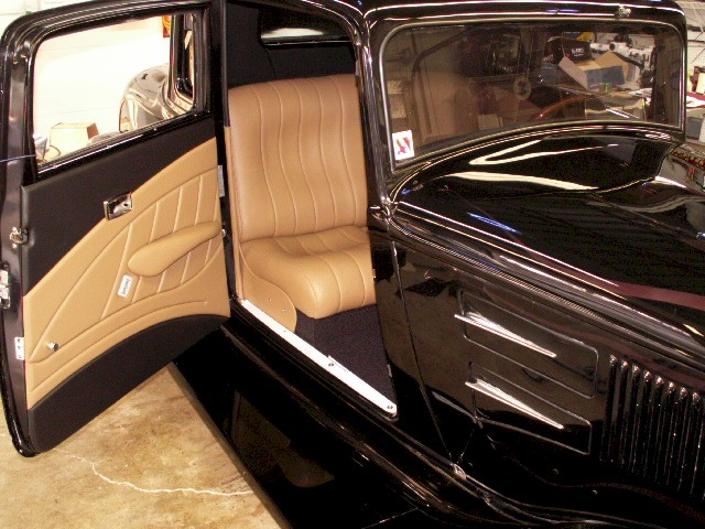 leather interior car 1933 plymouth coupe custom two tone black and tan leather tesla model x. Black Bedroom Furniture Sets. Home Design Ideas