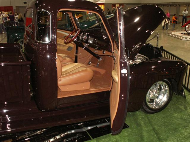 1953 Chevrolet Truck Leather Custom Interior Interiors By Shannon.