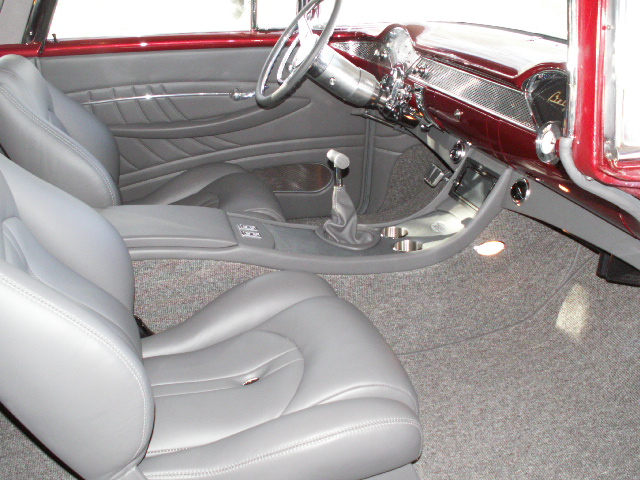 1955 Chevy Custom Interior http://www.interiorsbyshannon.com/1955_nomad_custom_leather_interior.htm