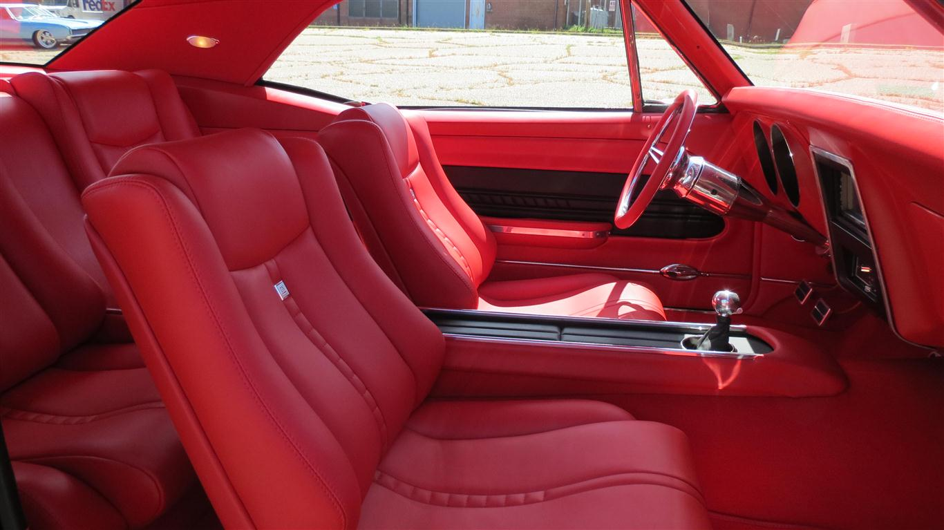 hank 39 s 1967 camaro custom leather interior interiors by upholstery. Black Bedroom Furniture Sets. Home Design Ideas