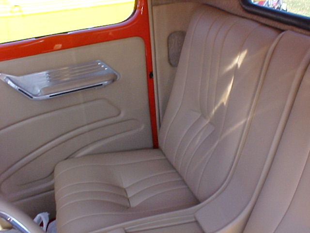 1940 ford truck custom leather interior interiors by upholstery. Black Bedroom Furniture Sets. Home Design Ideas