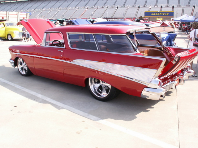1957 Chevrolet Nomad Wagon For Sale Custom Leather Interior